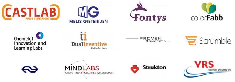 logo's van de partners van proeftuin castlab